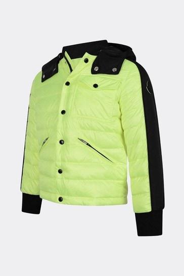 Boys Neon Yellow Down Padded Bouzey Jacket