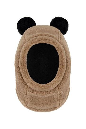 Kids Brown Teddy Fleece Hat