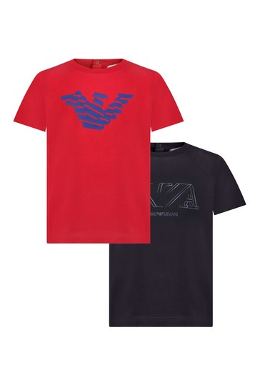 Baby 2 Pack Red And Navy T-Shirts