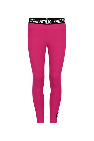 Girls Pink/Fuchsia Cotton Leggings