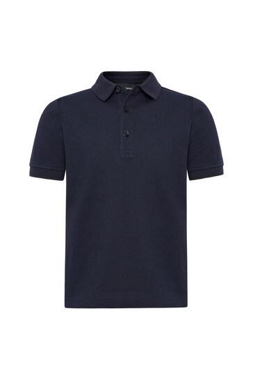 Navy Polo Top