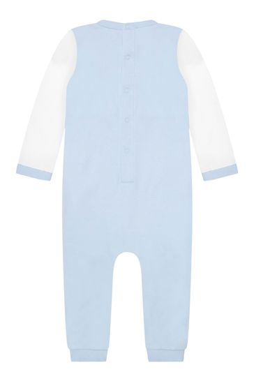 Baby Boys Blue Cotton Romper