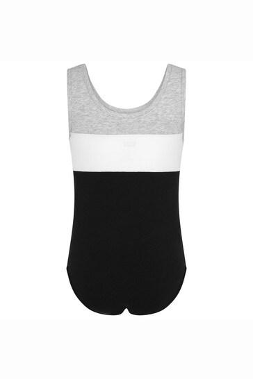 Girls Black Cotton Bodysuit