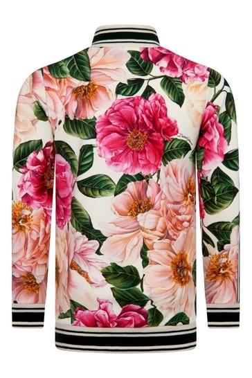 Girls Pink Cotton Zip Up Top