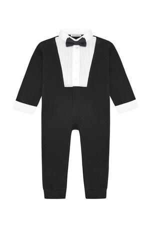 Baby Boys Black Cotton Romper