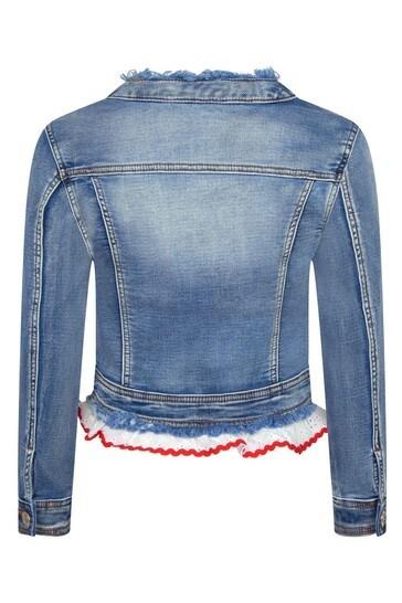 Girls Blue Cotton Jacket