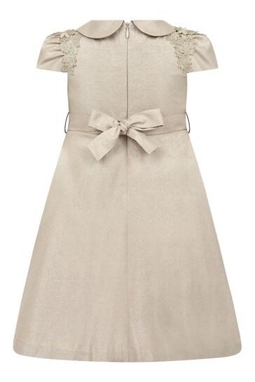 여자 골드 드레스
