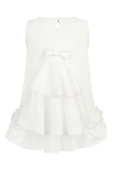 Baby Girls White Cotton Top