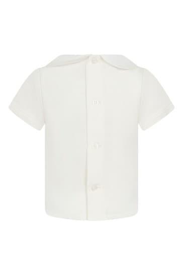 베이비 보이즈 크림 코튼 셔츠