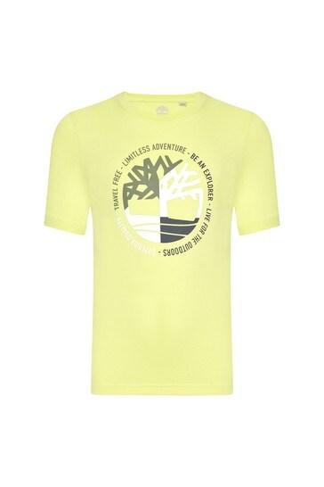 옐로우 코튼 티셔츠
