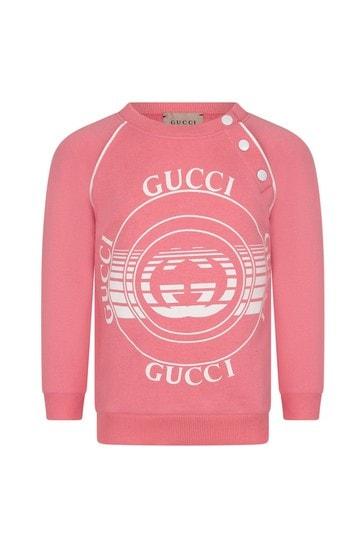Baby Girls Pink Cotton Sweater