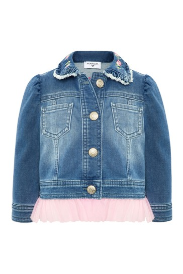 Baby Blue Cotton Denim Jacket