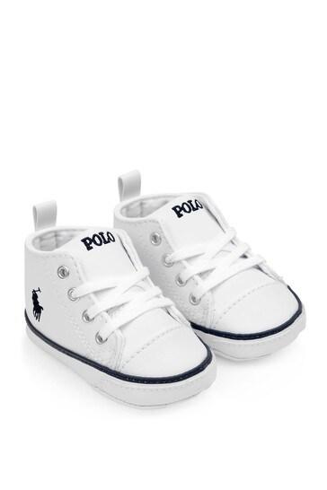 Baby White Prewalker Trainers