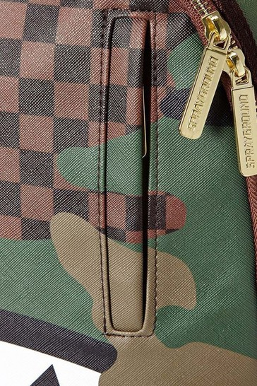 Checkered Camo Shark Backpack