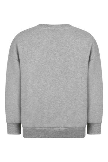Mini Rodini Boys Grey Cotton Sweat Top
