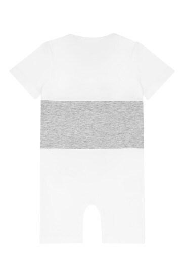 Baby Boys White Cotton  Shortie