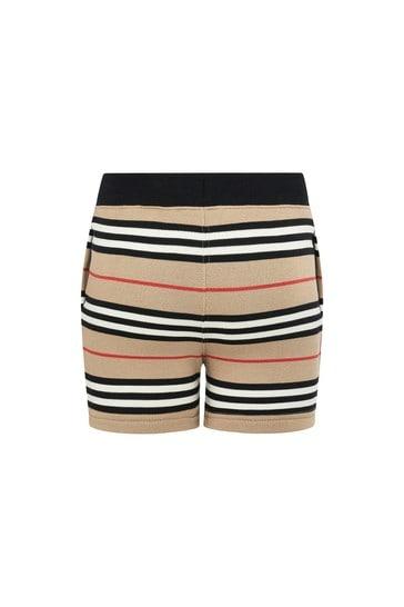 Baby Boys Beige Cotton Shorts
