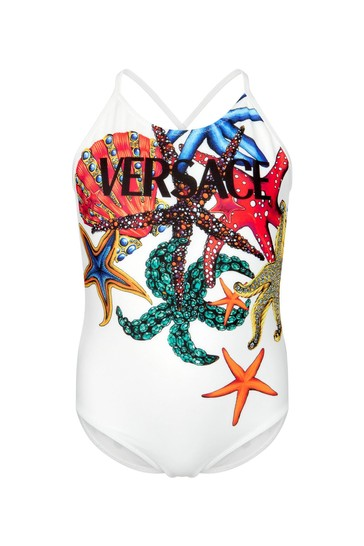 Girls Multicolour Swimsuit