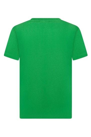 Boys Green Cotton T-Shirt