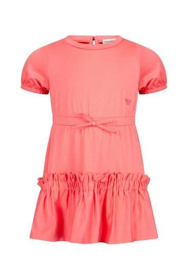 아기 소녀 핑크 드레스