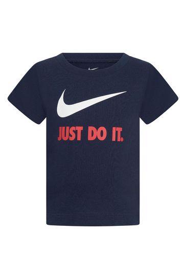 Baby Boys Navy Cotton T-Shirt
