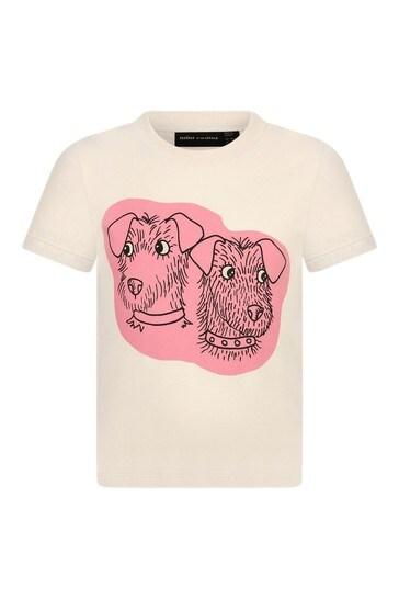 크림 코튼 티셔츠