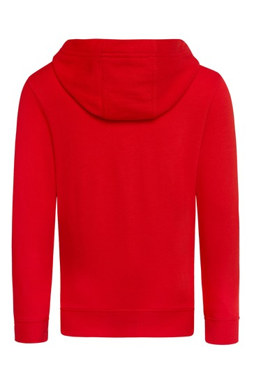 Red Cotton Hoodie