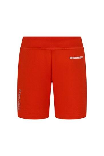 Boys Orange Cotton Shorts