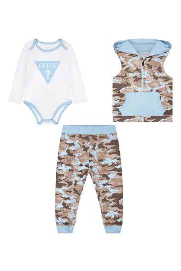 Baby Boys Blue Cotton Set