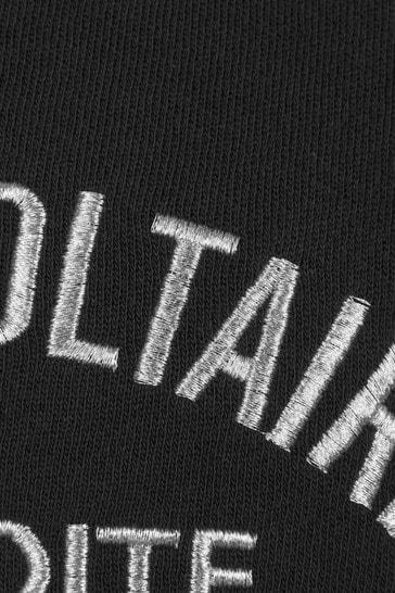 Zadig & Voltaire Girls Black Cotton Sweat Top