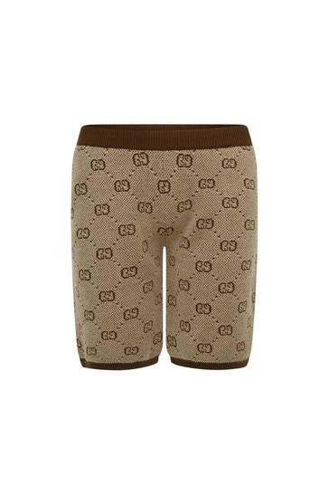 Boys Beige Wool GG Shorts
