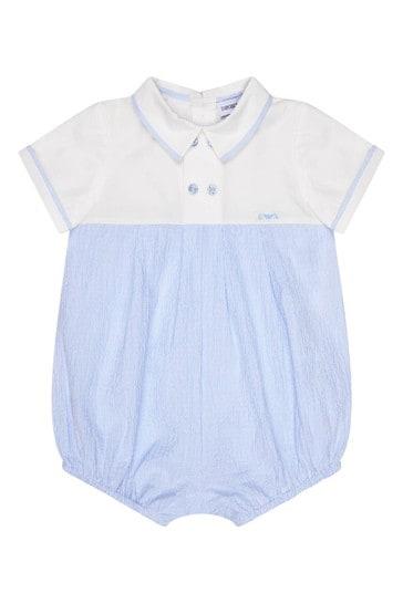 Baby Boys Blue Romper