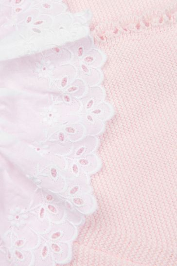 Baby Girls Pink Cotton All-In-One