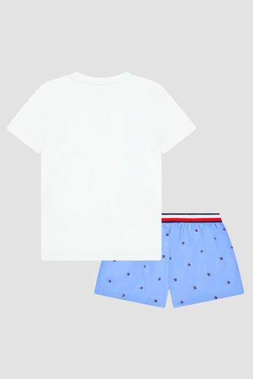 Tommy Hilfiger Boys White Cotton Pyjamas
