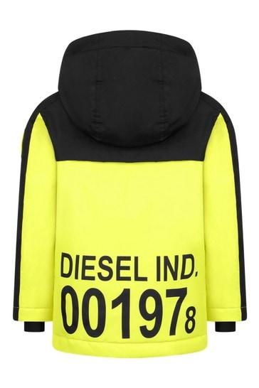 Boys Black/Neon Yellow Ski Jacket