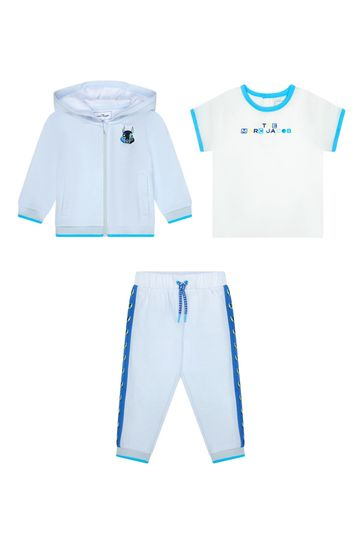 Baby Boys Blue Cotton Boys Outfit