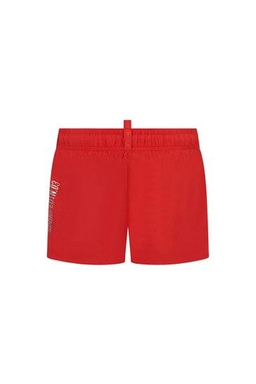 Boys Red Swim Shorts