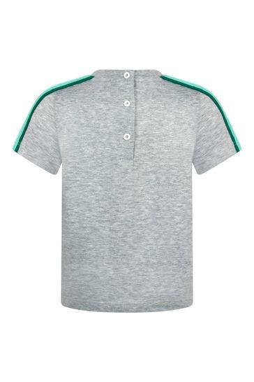 Baby Boys Grey Cotton T-Shirt