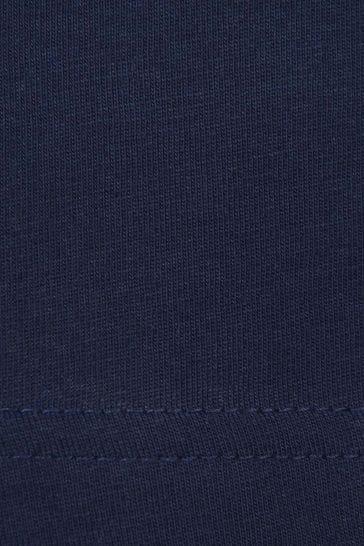 Boys Navy Jersey Long Sleeve T-Shirt