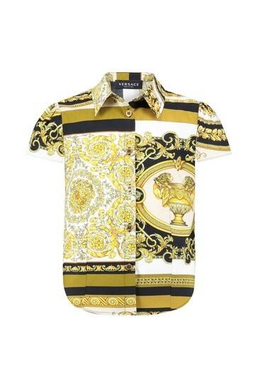 Girls Gold Cotton Shirt