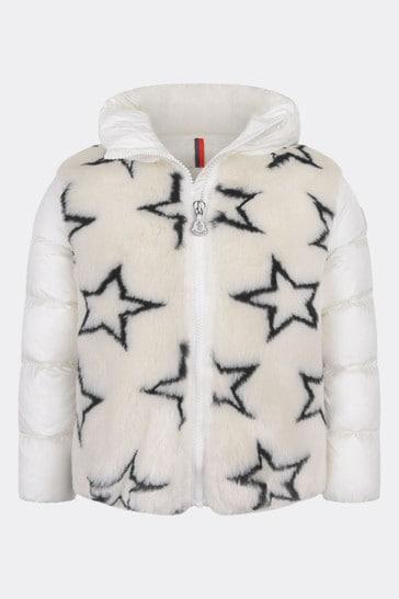 Girls Charcoal Stars Jacquard Lady Jacket