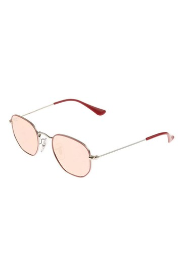 Ray-Ban Pink Mirror Hexagonal Sunglasses
