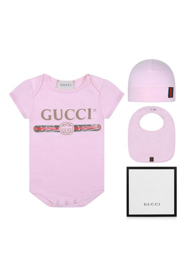 Baby Girls Pink Bodysuit Gift Set