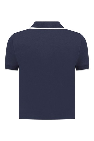 Baby Navy Cotton Polo Shirt