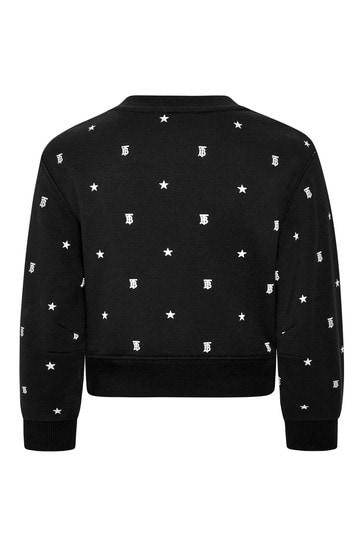 Baby Girls Black Cotton Sweater