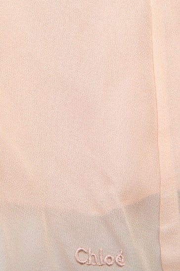 Girls Pink Silk Dress