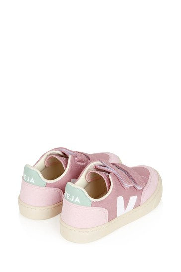 Girls Pink Vegan Leather Trainers