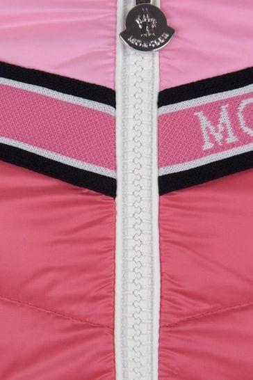 Girls Pink Down Padded Eglantine Jacket