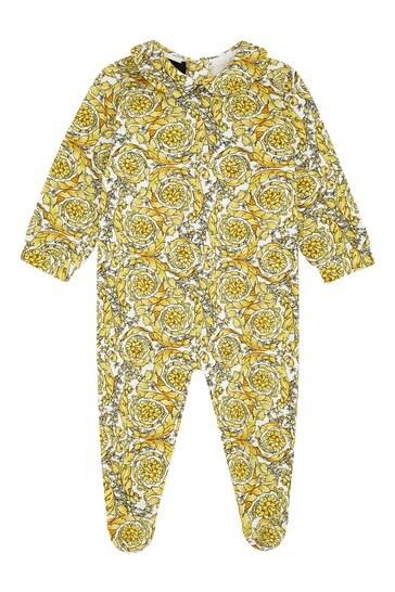 Gold Cotton Babygrow Set