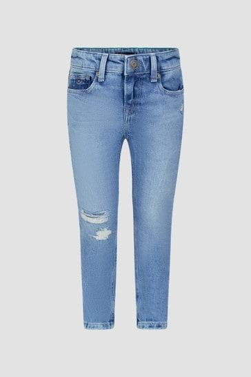Tommy Hilfiger Boys Blue Cotton Jeans